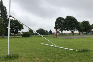 Goal posts on the Orchard Head fields have been broken