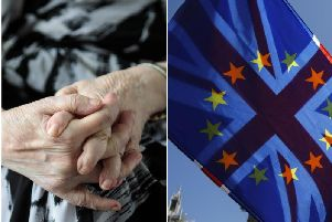 The state of elderly care in the private sector was given a risk factor of 16 out of 25. Brexit was given a score of six.
