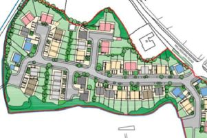Site layout for the 60 new homes proposed for Willingham Road in Lea.