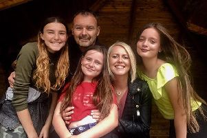 Allen and Julie Redfearn from Ey Up Puddin' with three of their daughters