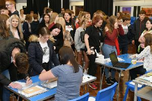 Results day at Headlands School, Bridlington