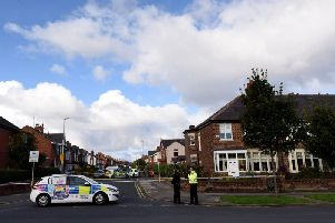 Police at the scene of the murder on West Park Drive, Blackpool on Friday, September 6