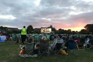 The event included a double bill of Shrek 4 and The Greatest Showman on a giant digital screen