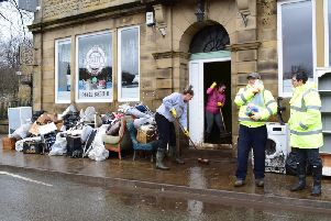 Flood-striken businesses in Mytholmroyd