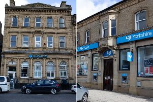 Two banks have announced that their branches in Brighouse will close later this year.