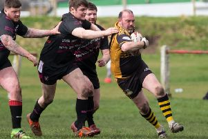 Actions from Ovenden A v King Cross Park, at Four Fields, Ovenden. Pictured is Lee Brook