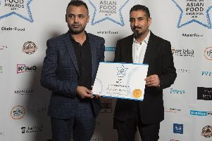 Brighouse restaurant claims prize at first ever English Asian Food Awards