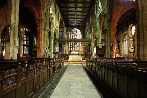 Halifax Parish church ext and interior pics and rev wilby inside. -thxpc1-14ab-
