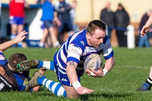 Peter Howard scores for Siddal against Blackbrook last weekend. PIC: Bruce Fitzgerald.