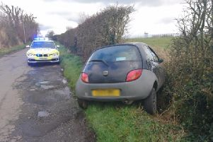 The black Ford Ka was found on Bank Lane close to Warton Aerodrome shortly after 3pm by Lancs Road Police officers.