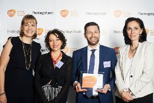 Katie Pinnock (GSK), Dianne Darby (Healthy Minds), Jonny Richardson Glenn (Healthy Minds), Lisa Weaks (The Kings Fund)