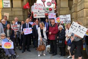 PROTEST: The Calderdale Local Plan has been fiercely argued with the Conservative group in particular voicing concerns.