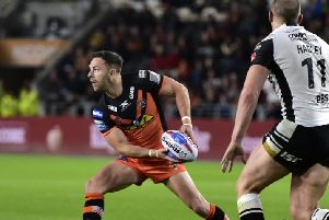 Luke Gale in action for Castleford Tigers.