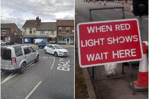 Motorists are being advised to allow extra time for journeys through Featherstone while road works are carried out.