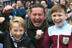 Burnley v Everton fan photos. Photo: Rich Linley/CameraSport