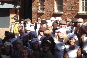 Sabden Primary School students have been time travelling to find out what life was like many years ago in their village.