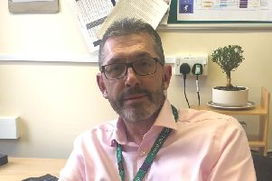 Hospital staff can speak to Steve O'Brien about anything which concerns them at work