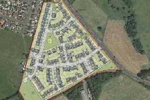 An artist's impression of what the Red Lees Road housing development would look like.