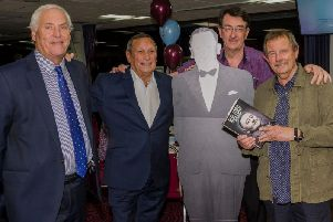 Former referee Keith Hackett with Frank Casper, Mike Smith and Dave Thomas. Pic: Ian Bannister