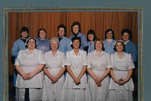 The St James' Lanehead dinner ladies from 1995
