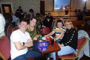 Supporters at the fund-raiser