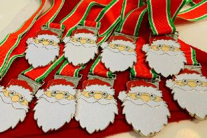 Medals will be handed out to those completing the Santa Dash