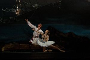 Le Corsaire is being shown live from Moscow at Trinity Arts Centre this weekend.
