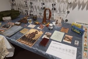 Some of the artefacts  on show in the Following Owen exhibition at Fleetwood