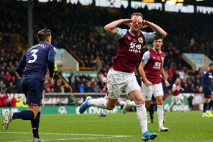 Ashley Barnes celebrates the opening goal