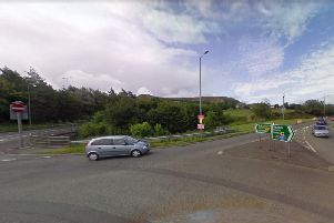 A 2-year-old girl is in a serious condition after falling from a BMW X5 on the A56 in Lancashire before being hit by another vehicle. Pic: Google Street View