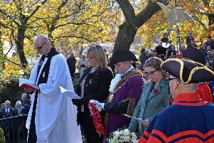 Clitheroe Remembrance Sunday. Picture by Ken Geddes