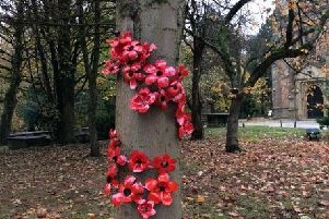 The display in St Peter's church yard
