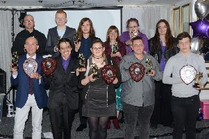 Some of the winners and runners-up with their awards