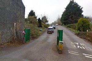 The entrance to Clitheroe's household waste and recycling centre.