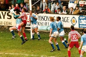 Carlisle 1-1 Halifax, October 3, 1992. Photo: Keith Middleton.