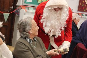 Dorothy Natale meets Father Christmas