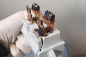 The damaged and removed fuse