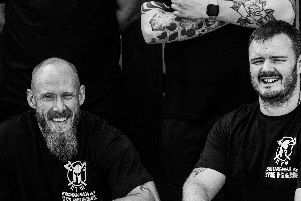 Daniel Fish (right) pictured with Rolonde Bradshaw, the main man behind the brand Sons of Anxiety
