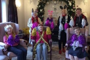 Residents spread some festive cheer