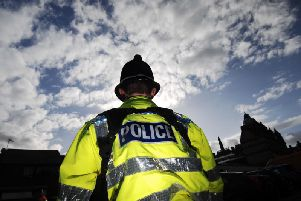 Police were at the scene of the collision yesterday evening