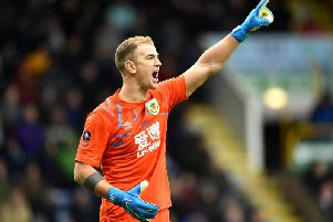 Joe Hart in action for Burnley.