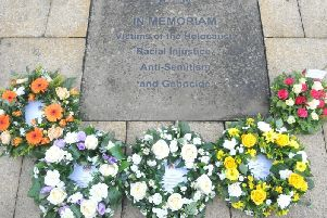 The Holocaust service will be held in Burnley's Peace Garden