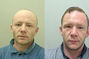 Michael Hall, 31 (pictured left) and Richard Hall, 34 (pictured right) are wanted after they failed to appear at court. (Credit: Lancashire Police)