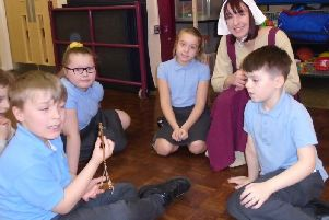The Anglo Saxon age was brought to life for these pupils at Burnley's Holy Trinity Primary School.