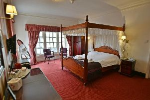 A period bedroom in the Swan and Royal