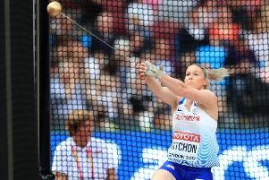Great Britain's Sophie Hitchon competes in the Women's Hammer Throw during day two of the 2017 IAAF World Championships at the London Stadium. PRESS ASSOCIATION Photo. Picture date: Saturday August 5, 2017. See PA story ATHLETICS World. Photo credit should read: Adam Davy/PA Wire. RESTRICTIONS: Editorial use only. No transmission of sound or moving images and no video simulation.