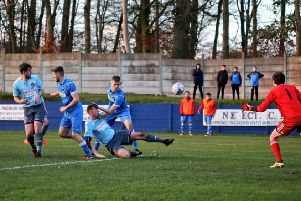 Action from Padiham's defeat to City of Liverpool at the Ruby Civil Arena''''''Picture: www.sutcliffephotos.com
