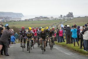 The Tour de Yorkshire in Whitby