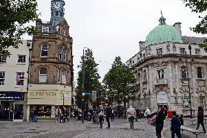 Clock corner in Doncaster town centre