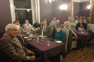 The Friends of the Weavers' Triangle enjoy their annual meal at Rosehill House Hotel in Burnley.